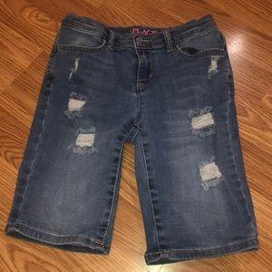 Girls size ten Children's Place distressed shorts